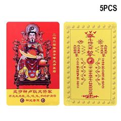 5pcs Chinese 2020 Year of the Rat Tai Sui Amulet Card 54x87mm for Purse Bed Hogard