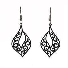 My Shape Filigree Stainless Steel Dangle Earring Vintage Ethnic Bohemia Earring Silver Gold Black Drop Earrings Wedding  Women