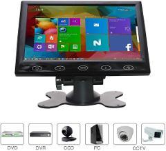 7 Zoll CCTV Monitor, HDMI 16: 9 HD 1024 * 600 Eingang AV/VGA/HDMI/BNC, Mit Touch-Tasten, Eingebauter Lautsprecher, für Raspberry Pi,berwachung PC, von WHOLEV