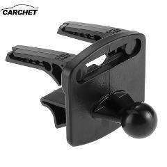 CARCHET Black Plactics Car Vehicle GPS Air Vent Mount Holder Stand Base Set for Garmin Nuvi GPS Fit all Nuvi Bracket